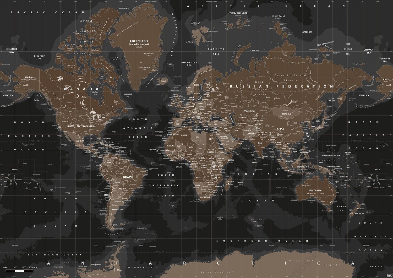 Wereldkaart Highlands
