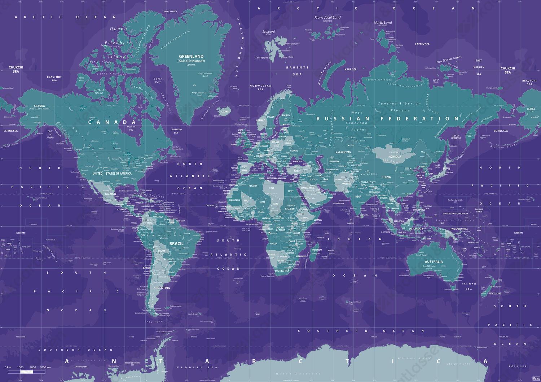 Digitale Wereldkaart Galactic