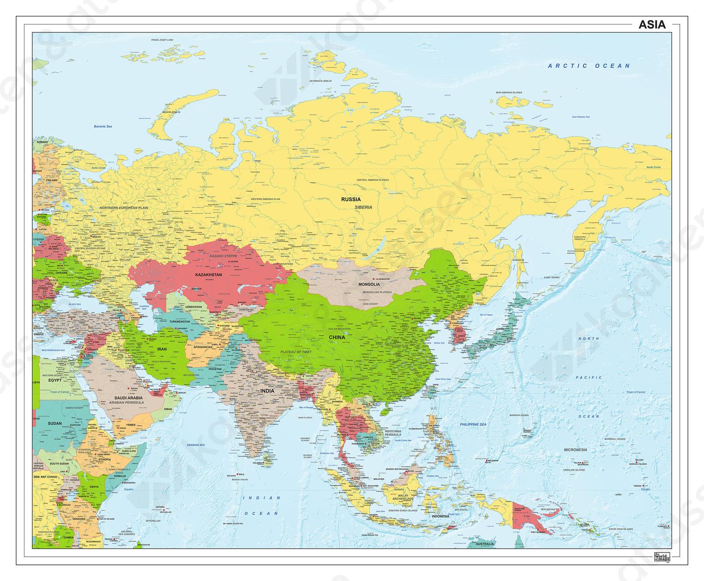 Digitale Azië staatkundig 1283
