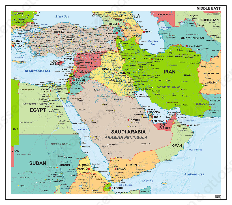 Midden Oosten staatkundig 1307