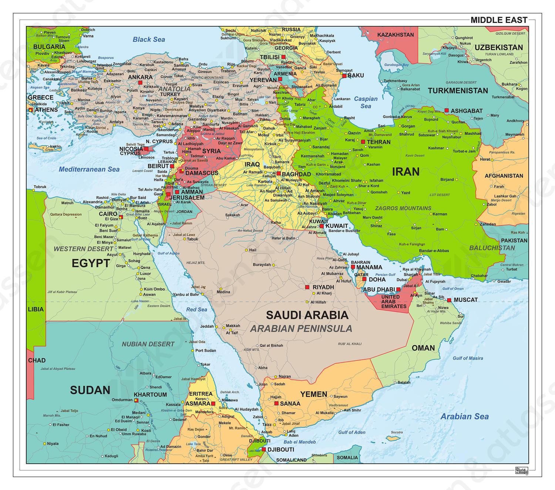 Digitale Midden Oosten staatkundig 1307