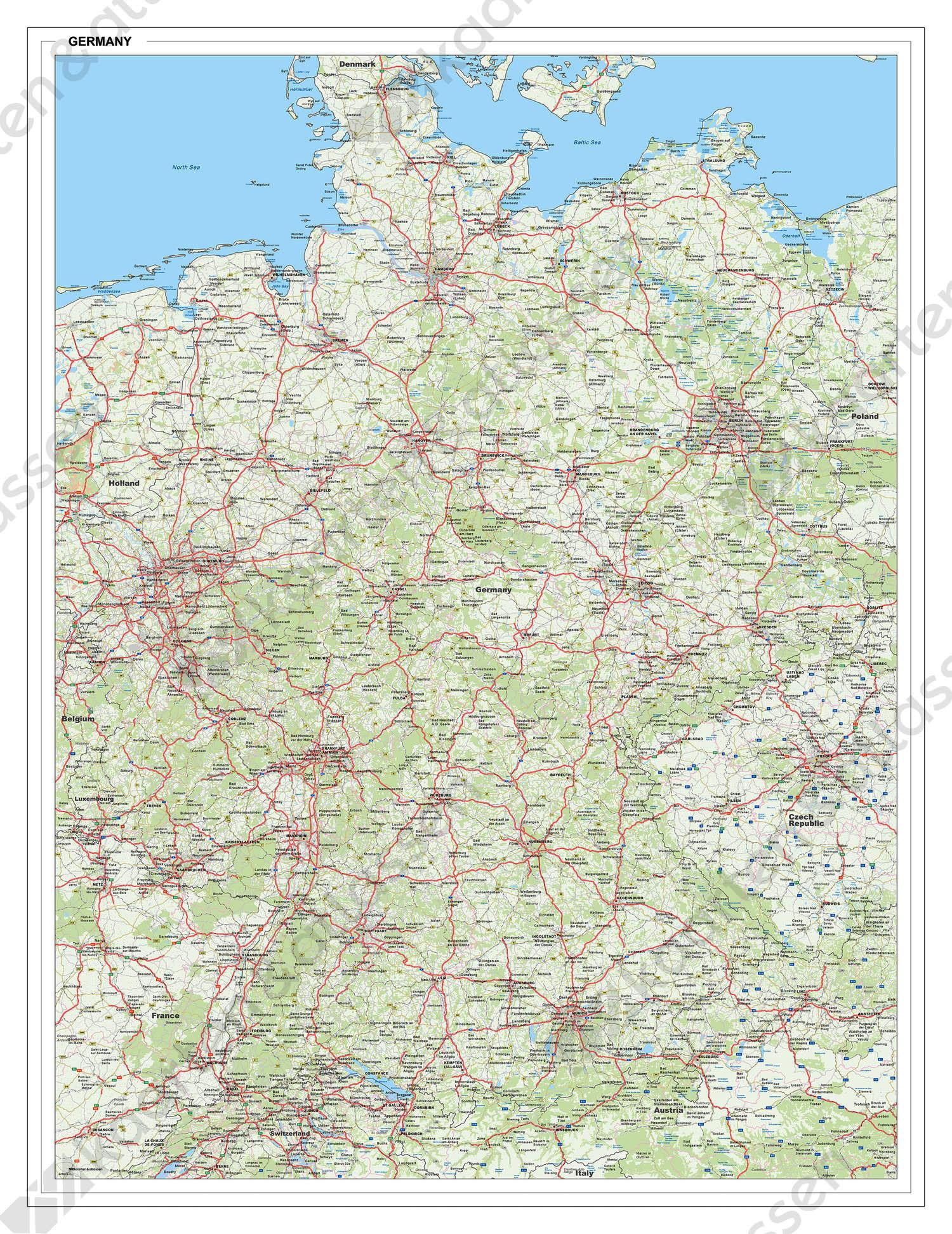 Wegenkaart Duitsland