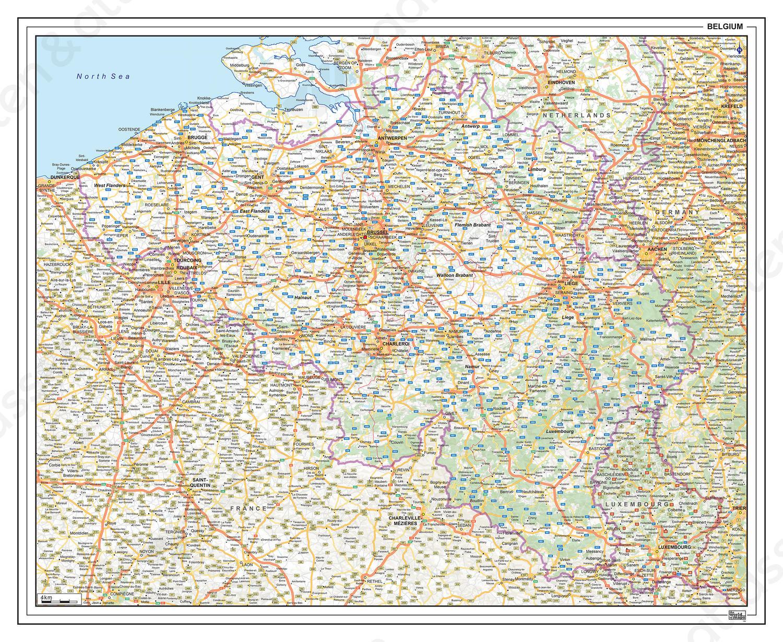 Wegenkaart Belgie