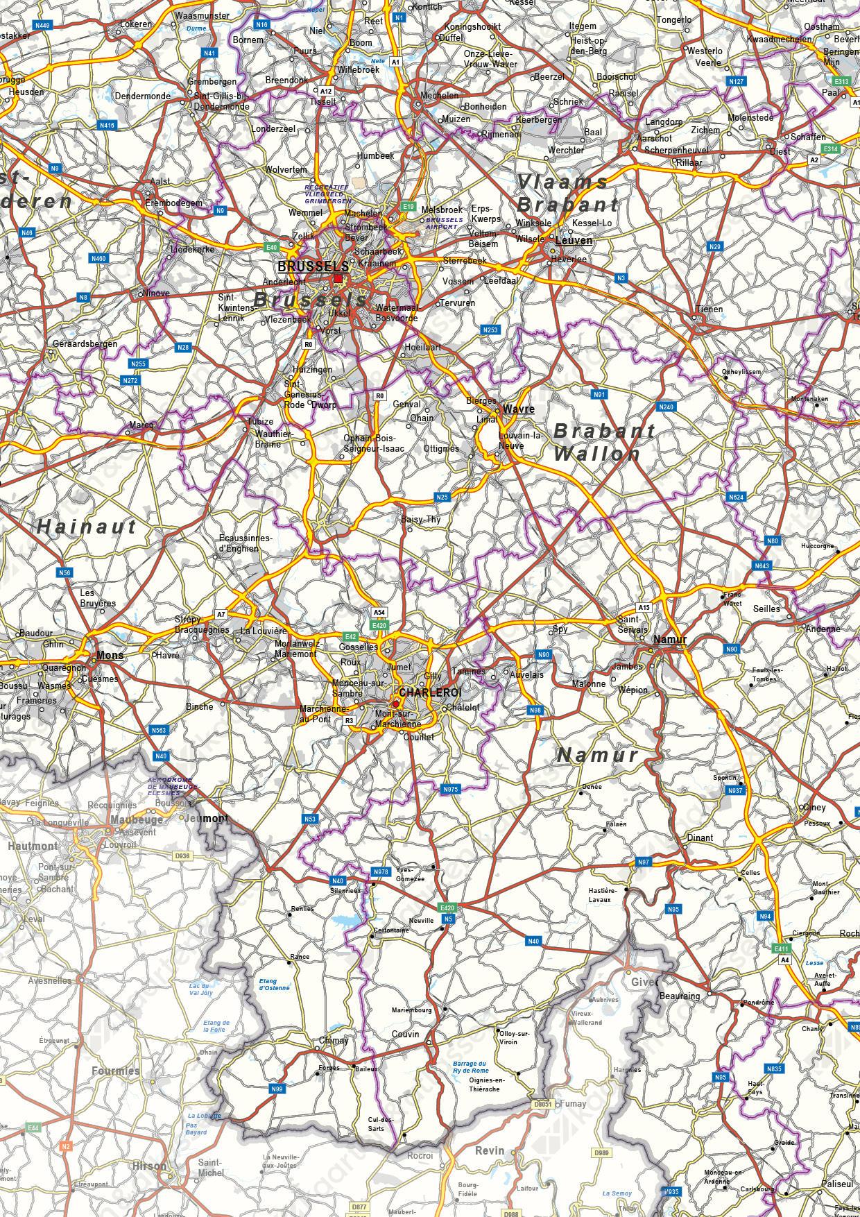 Wegenkaart België