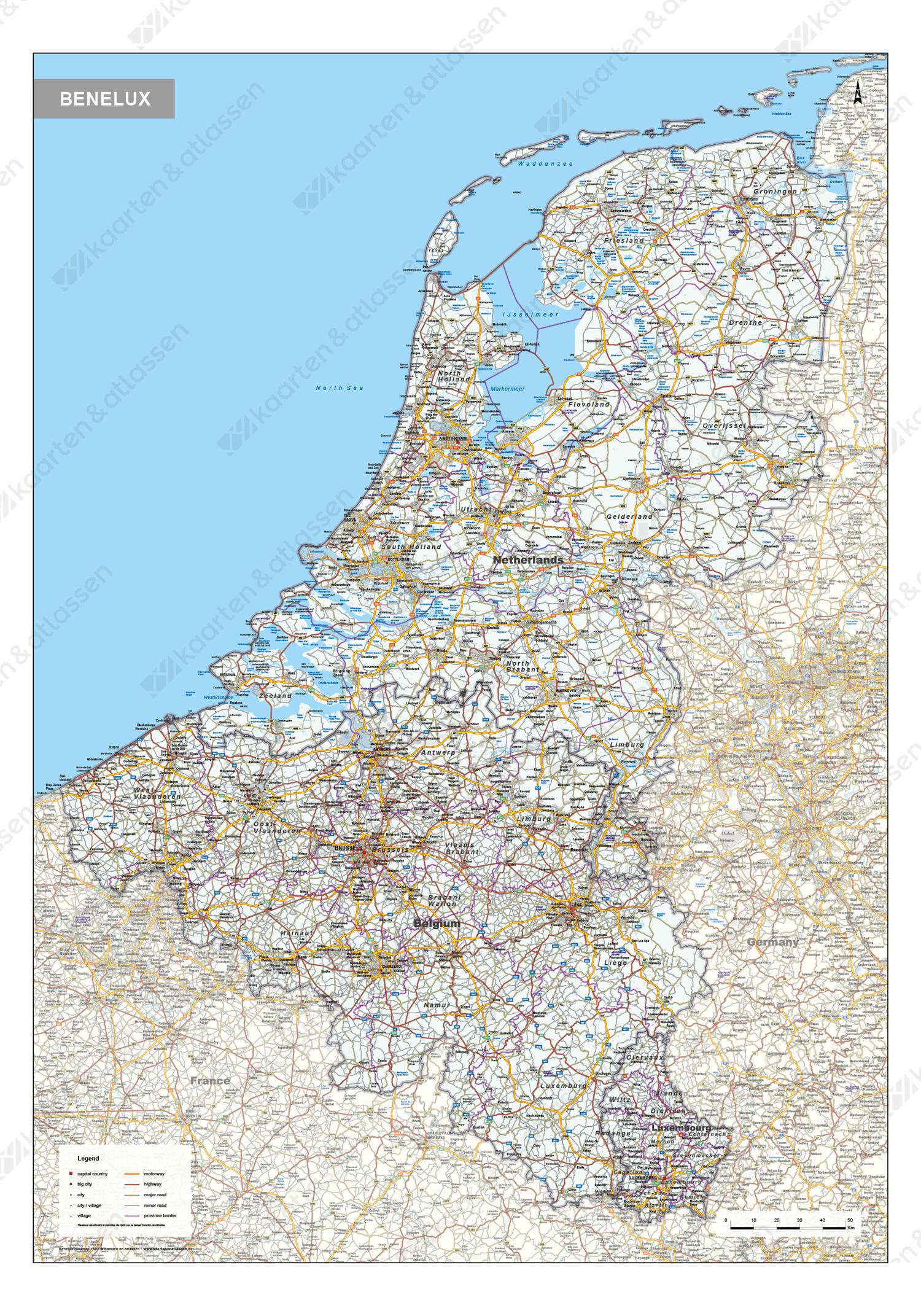 Digitale Wegenkaart Benelux