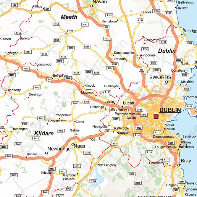 Wegenkaart Ierland