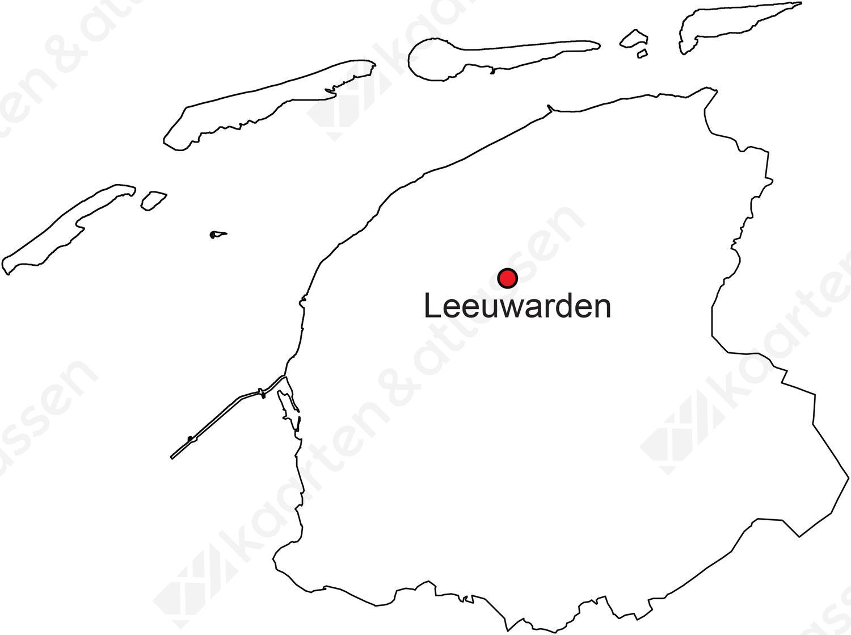 Gratis digitale kaart Friesland