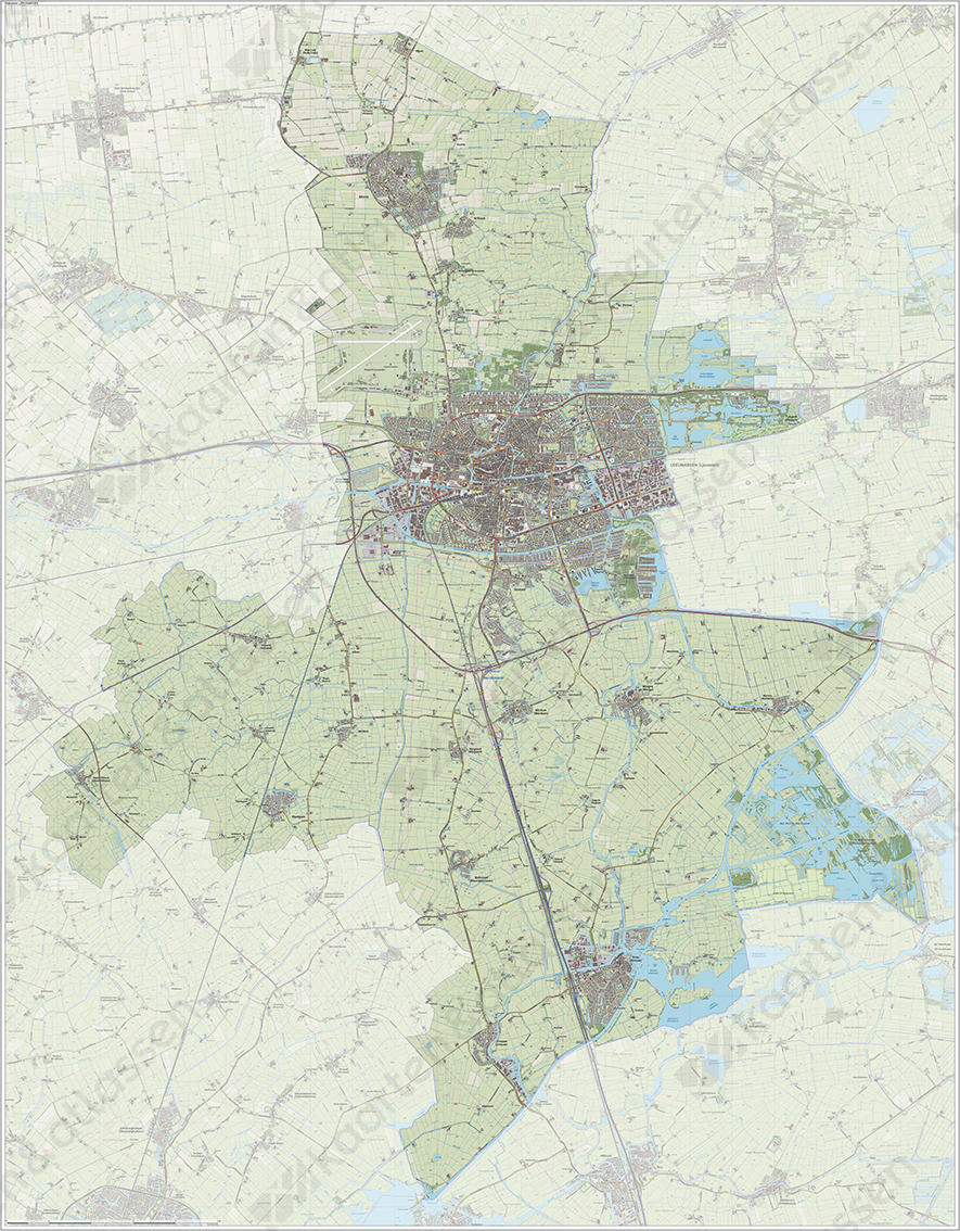 Digitale Kaart Leeuwarden Kaarten En Atlassen Nl