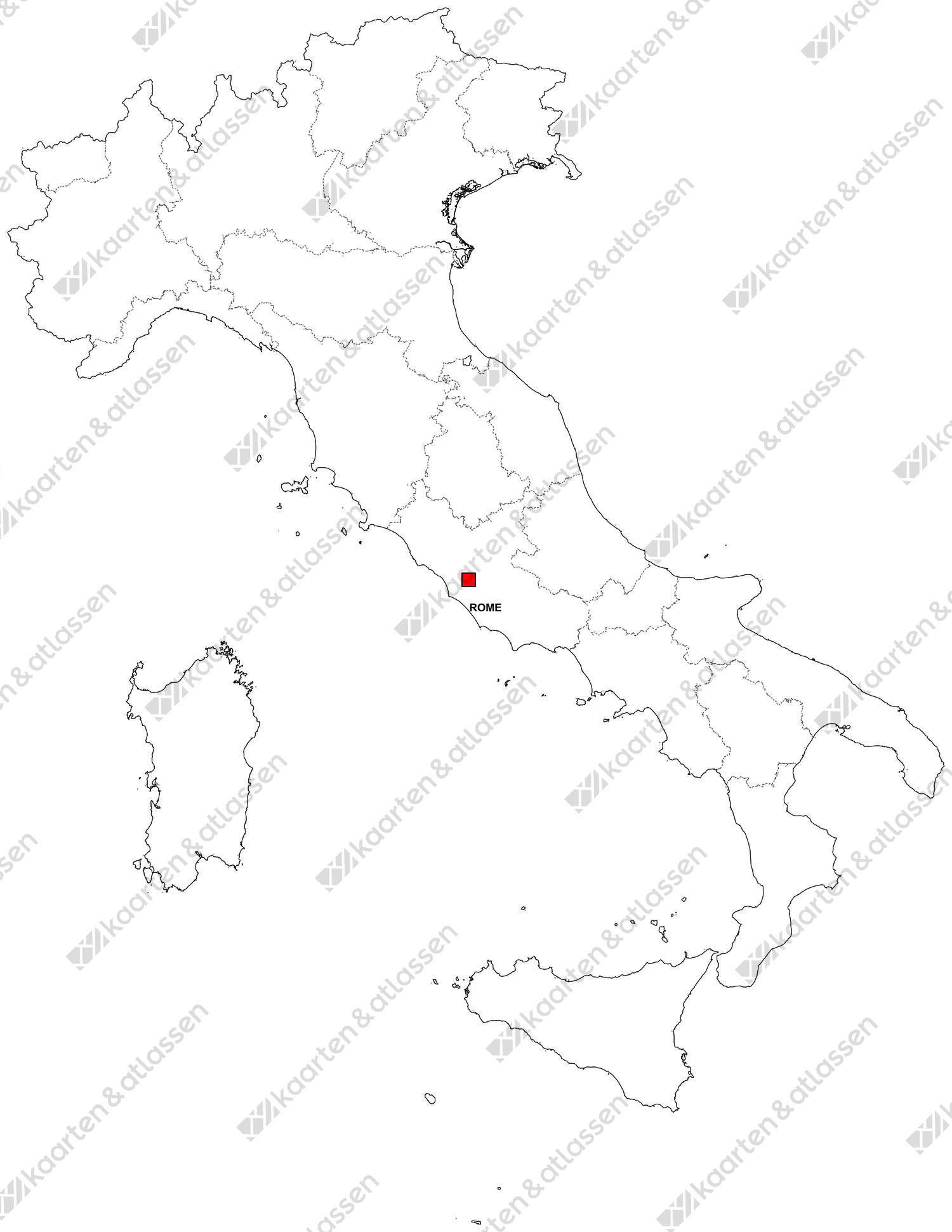 Gratis digitale kaart Italië