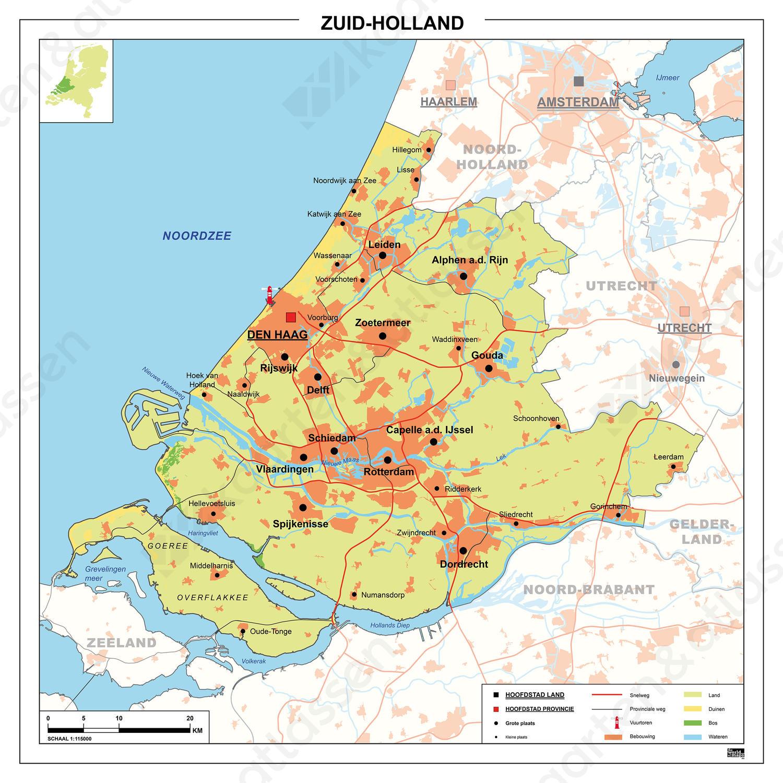 Kaart Zuid-Holland