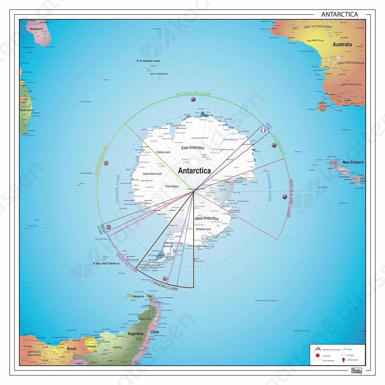 Kaart Zuidpoolgebied