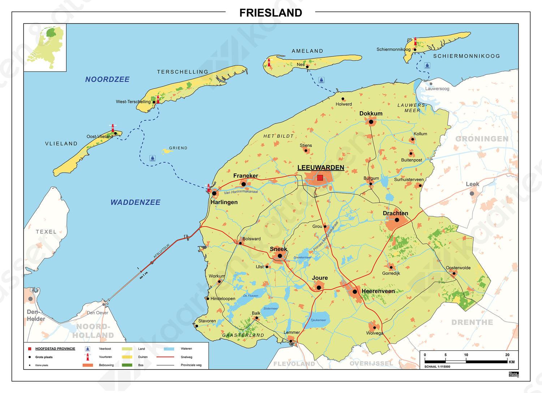 Kaart Friesland 451 Kaarten En Atlassen Nl