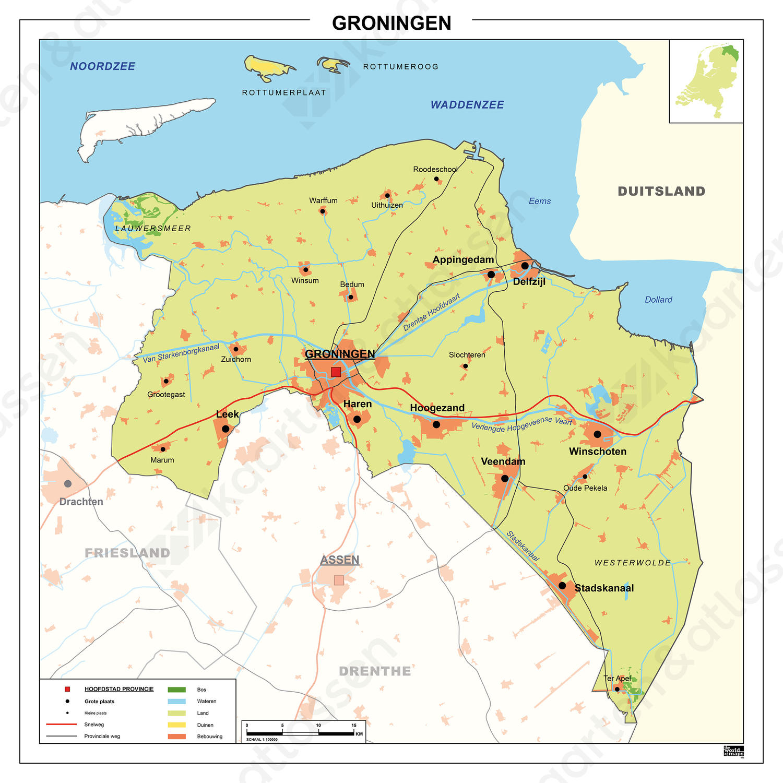 kaart groningen provincie Kaart Groningen 453 | Kaarten en Atlassen.nl