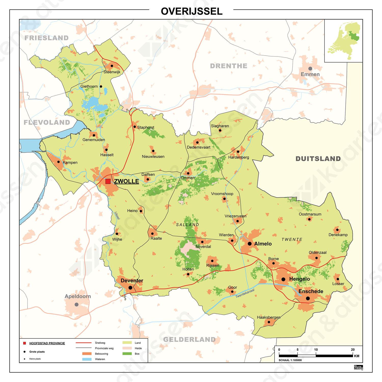provincie overijssel kaart Kaart Van Overijssel   doormelle