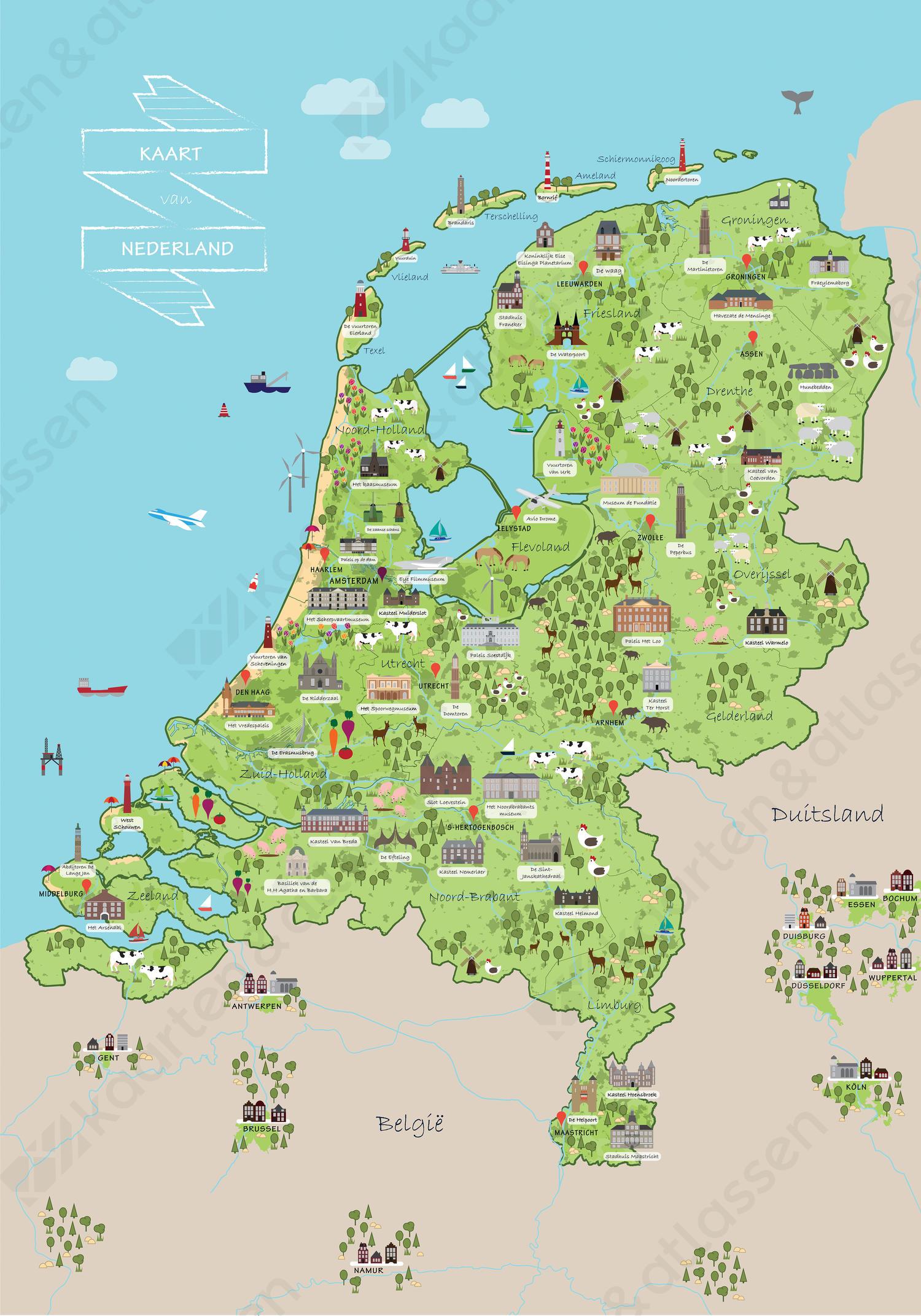 Vrolijke Cultuurkaart van Nederland