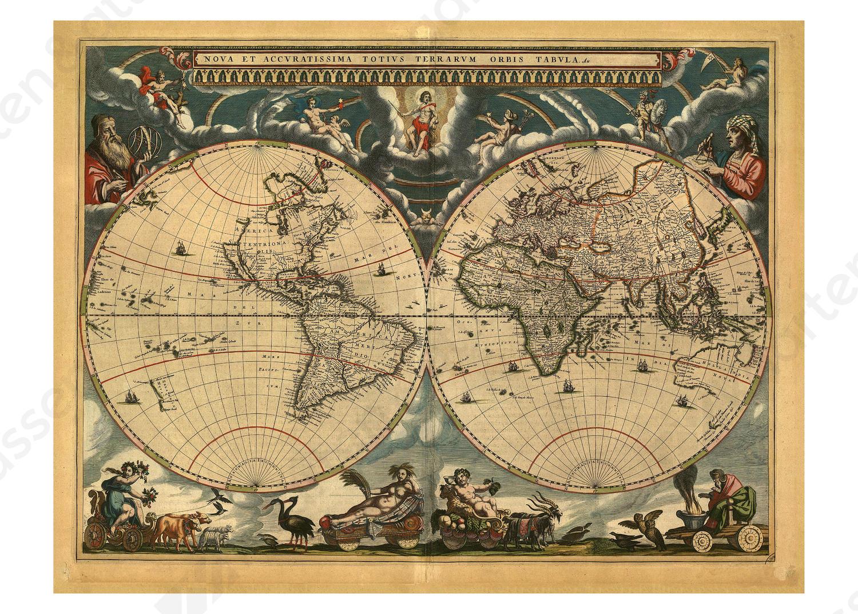 Digitale Wereldkaart Blaeu