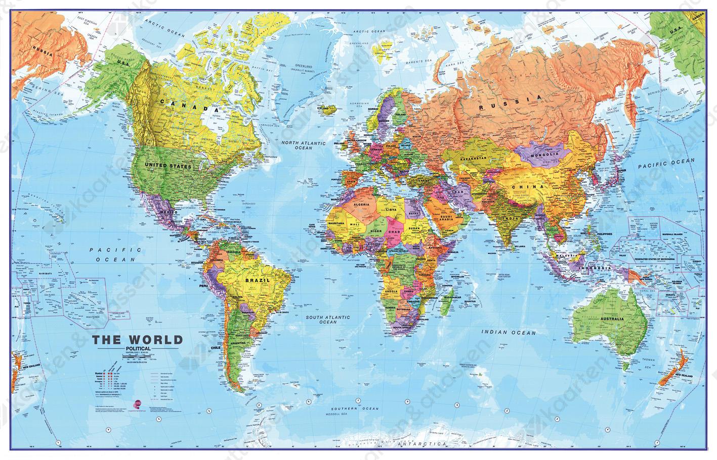 Wereldkaart MI