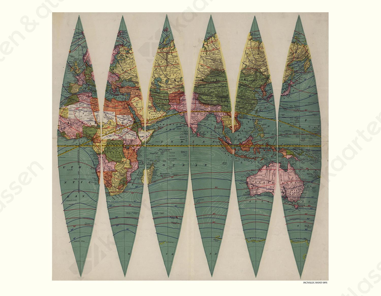 Wereldkaart Rand McNally
