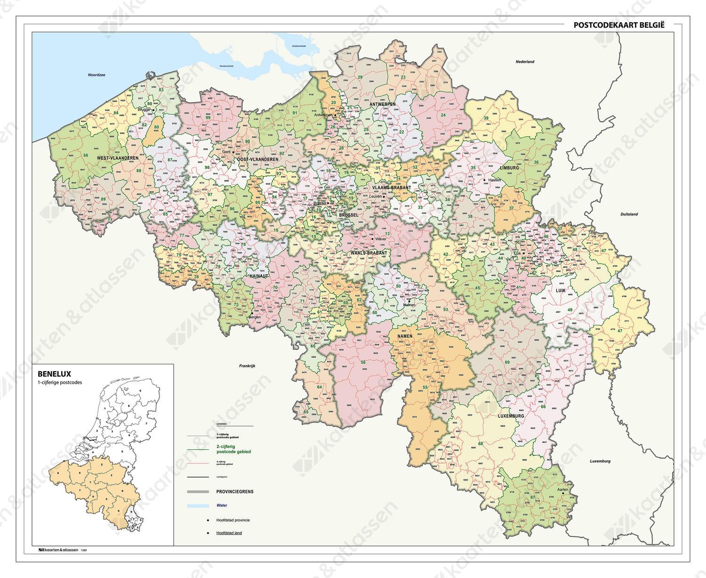 Digitale Postcodekaart België 2-4 cijferig 1389