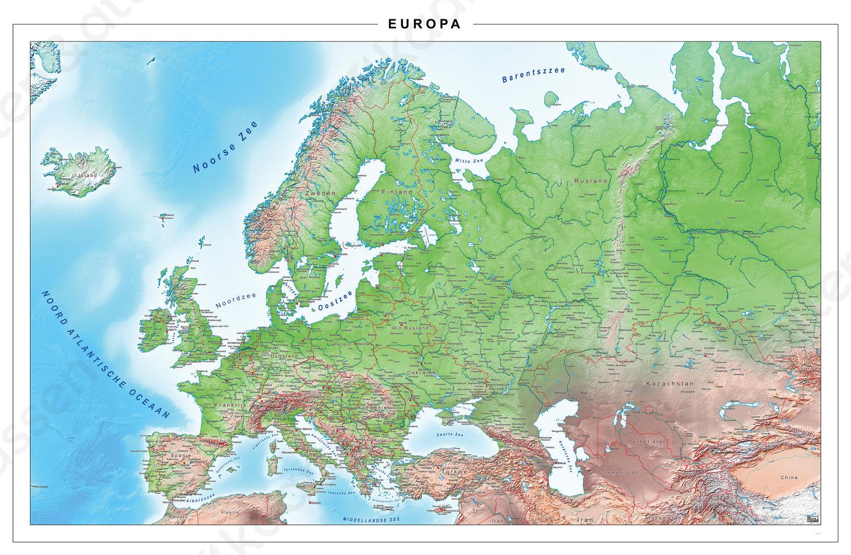 Europakaart Natuurkundig