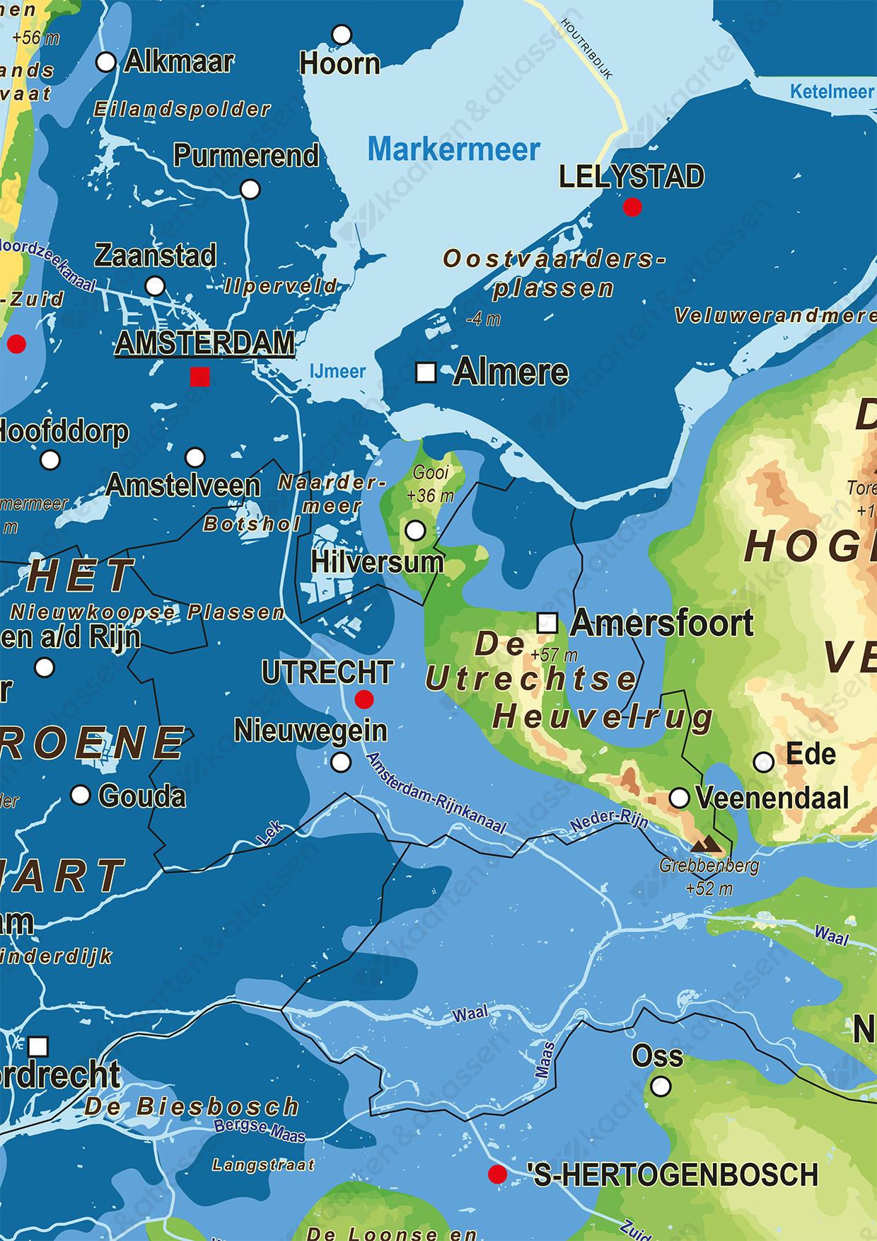 Overstromingsrisicokaart Nederland