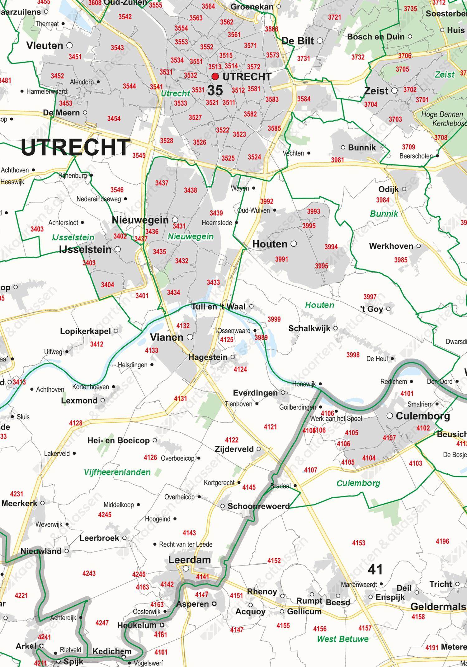 Digitale Postcode-/Gemeentekaart Nederland
