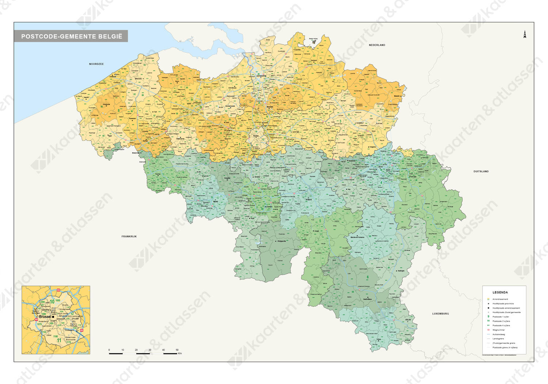 Postcode/gemeentekaart België