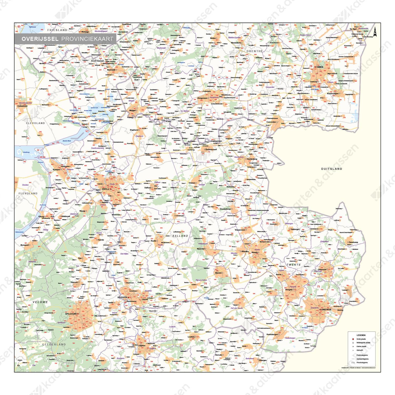 Digitale Postcode-/Gemeentekaart Overijssel