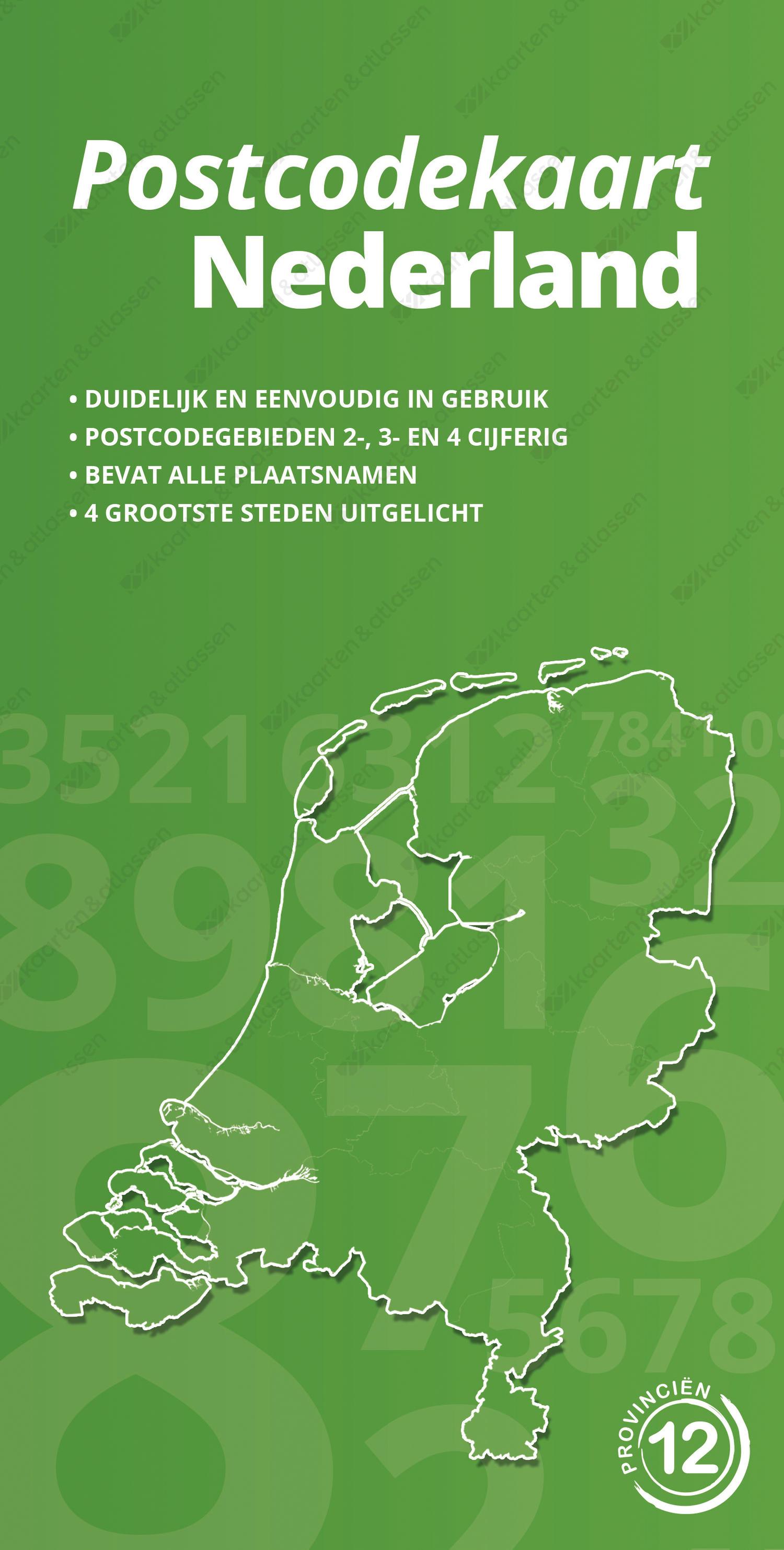 Postcodekaart Nederland - voorzijde