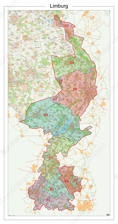 Digitale Postcodekaart Provincie Limburg