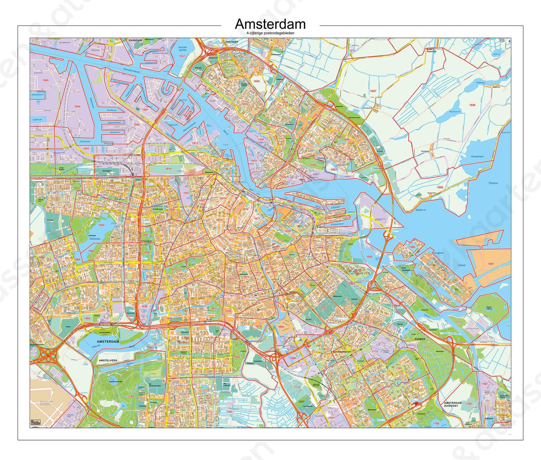 Postcodekaart Amsterdam