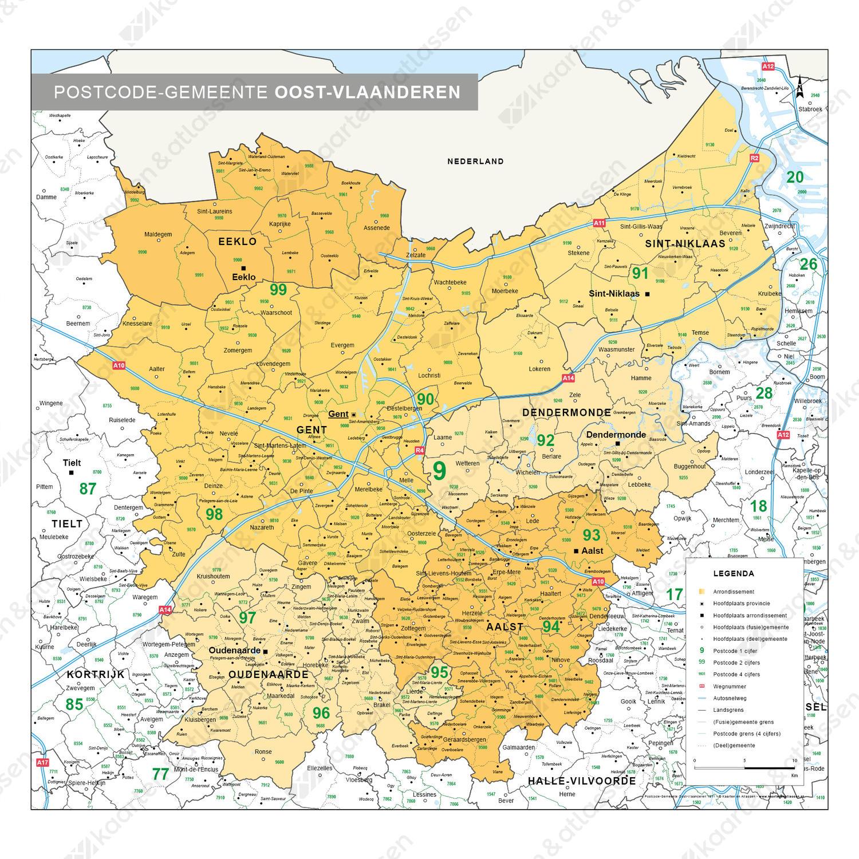 Administratieve Kaart Oost Vlaanderen 1511 Kaarten En Atlassen Nl