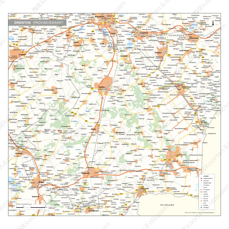 Drenthe Digitale Provinciekaart Staatkundig