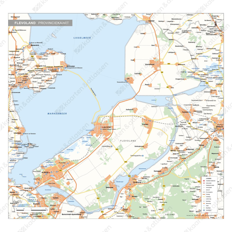 Flevoland Provinciekaart Staatkundig