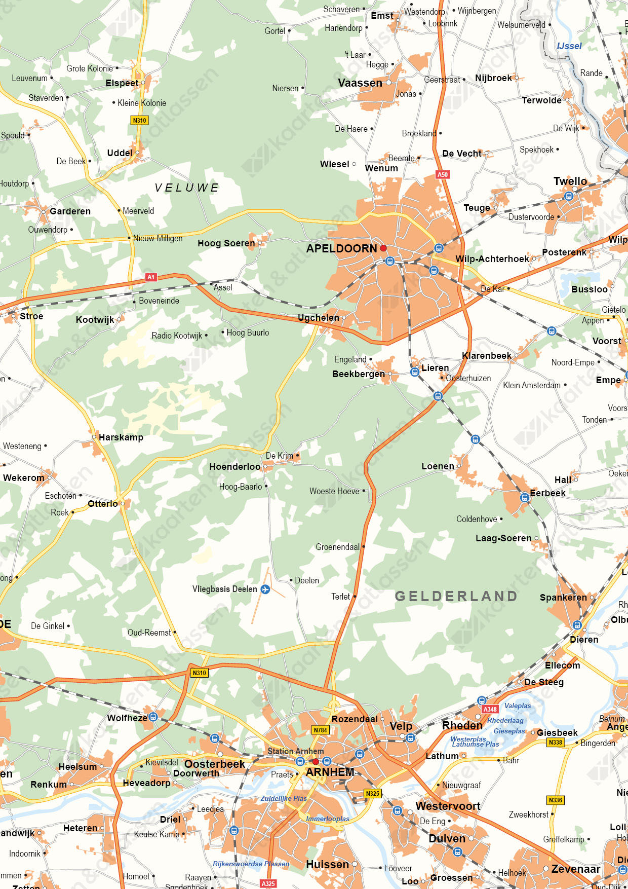 Gelderland Digitale Provinciekaart Staatkundig