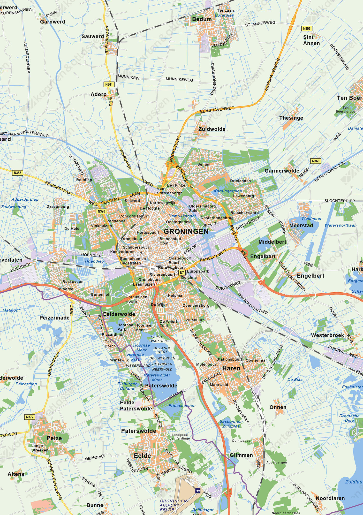 uitsnede:3 Noordelijke Provincies: Friesland, Groningen & Drenthe