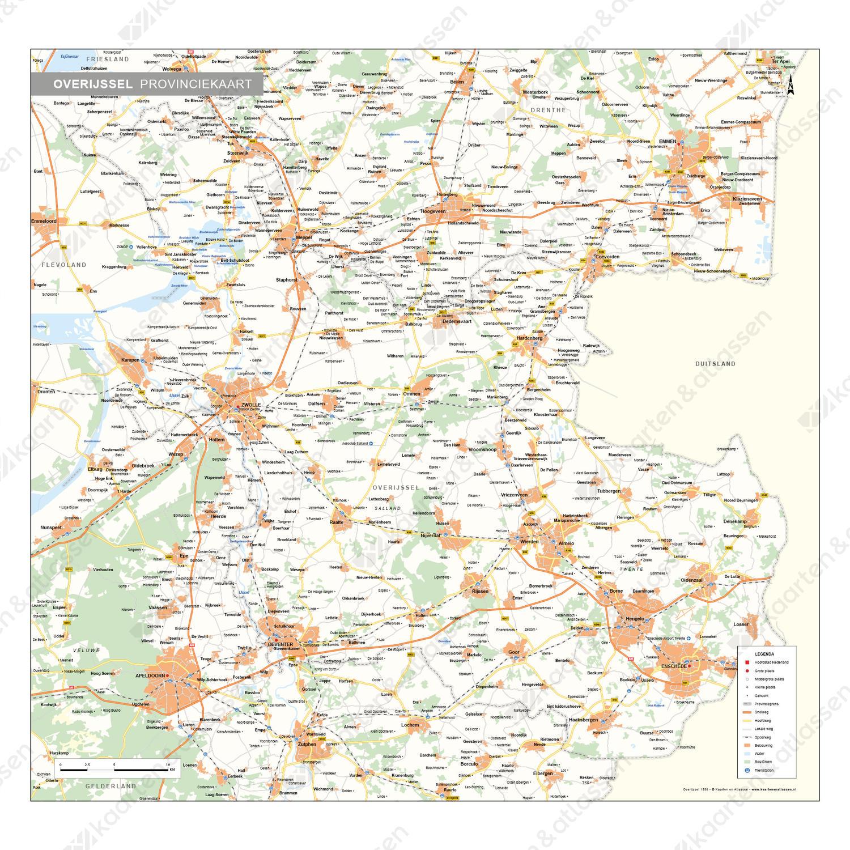 Overijssel Provinciekaart Staatkundig