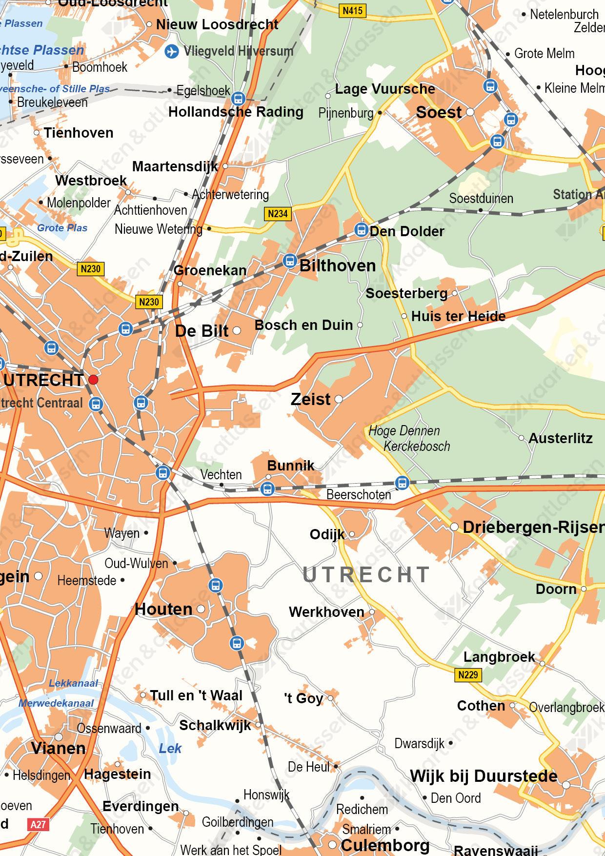 Utrecht Digitale Provinciekaart Staatkundig