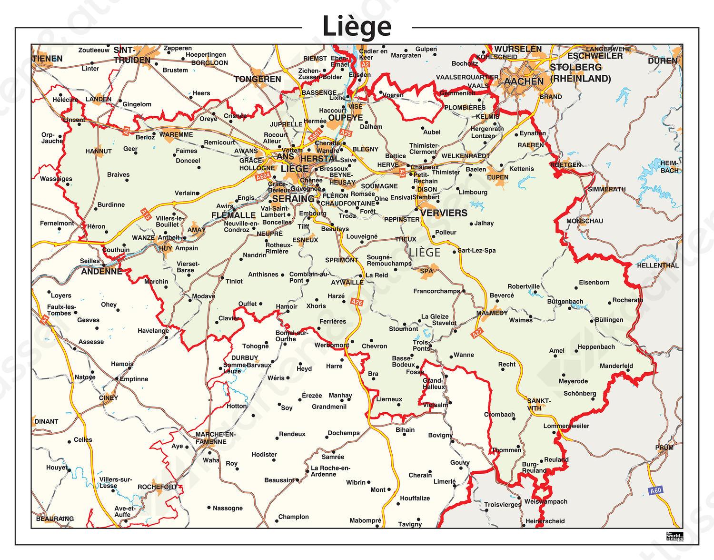 Digitale Provinciekaart Liège