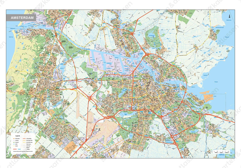 Kaart Groot Amsterdam