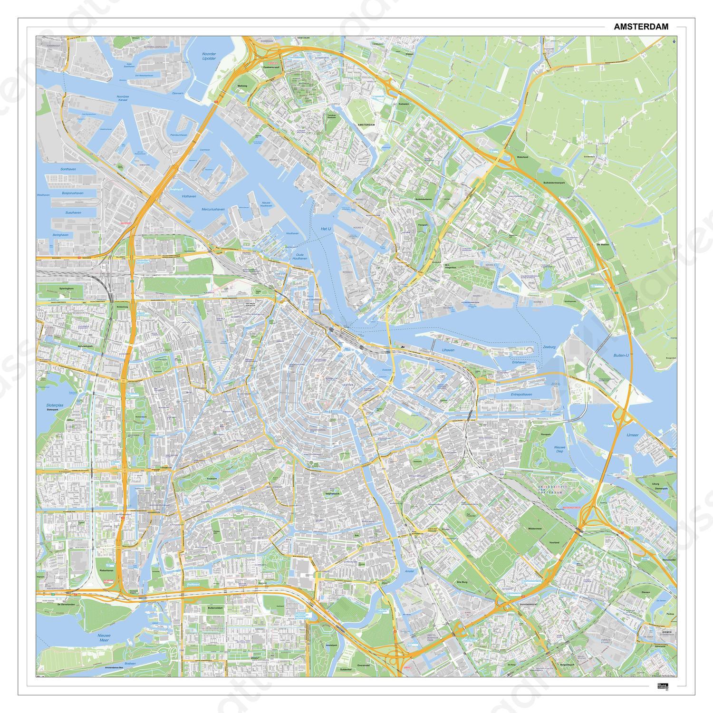 Kaart Amsterdam 391dg Kaarten En Atlassen Nl