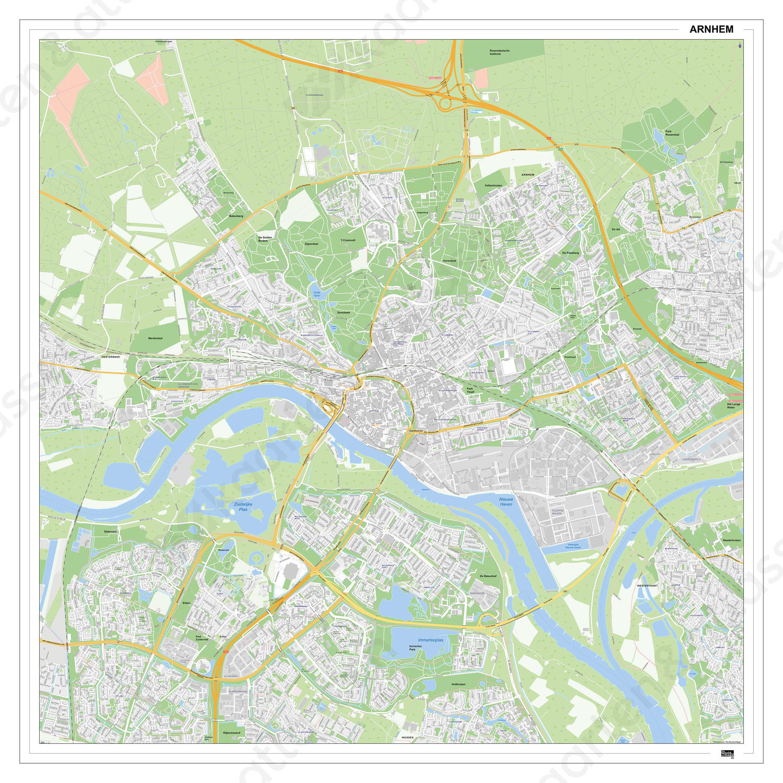 Digitale Kaart Arnhem
