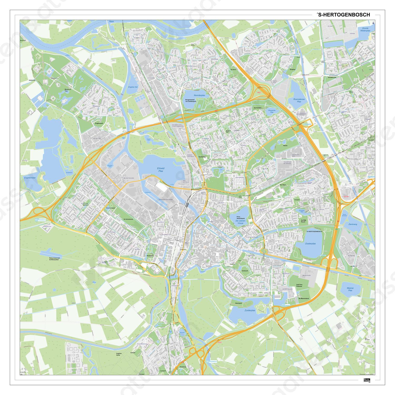 Digitale Kaart Den Bosch 394dg Kaarten En Atlassen Nl