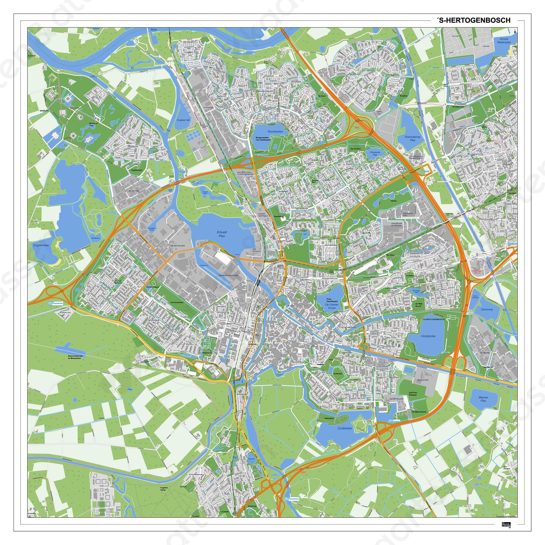 Kaart Den Bosch 394dg Kaarten En Atlassen Nl