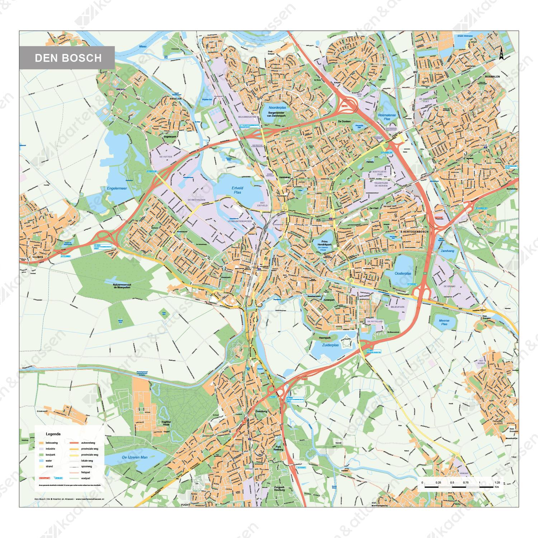 Kaart Den Bosch 394 Kaarten En Atlassen Nl