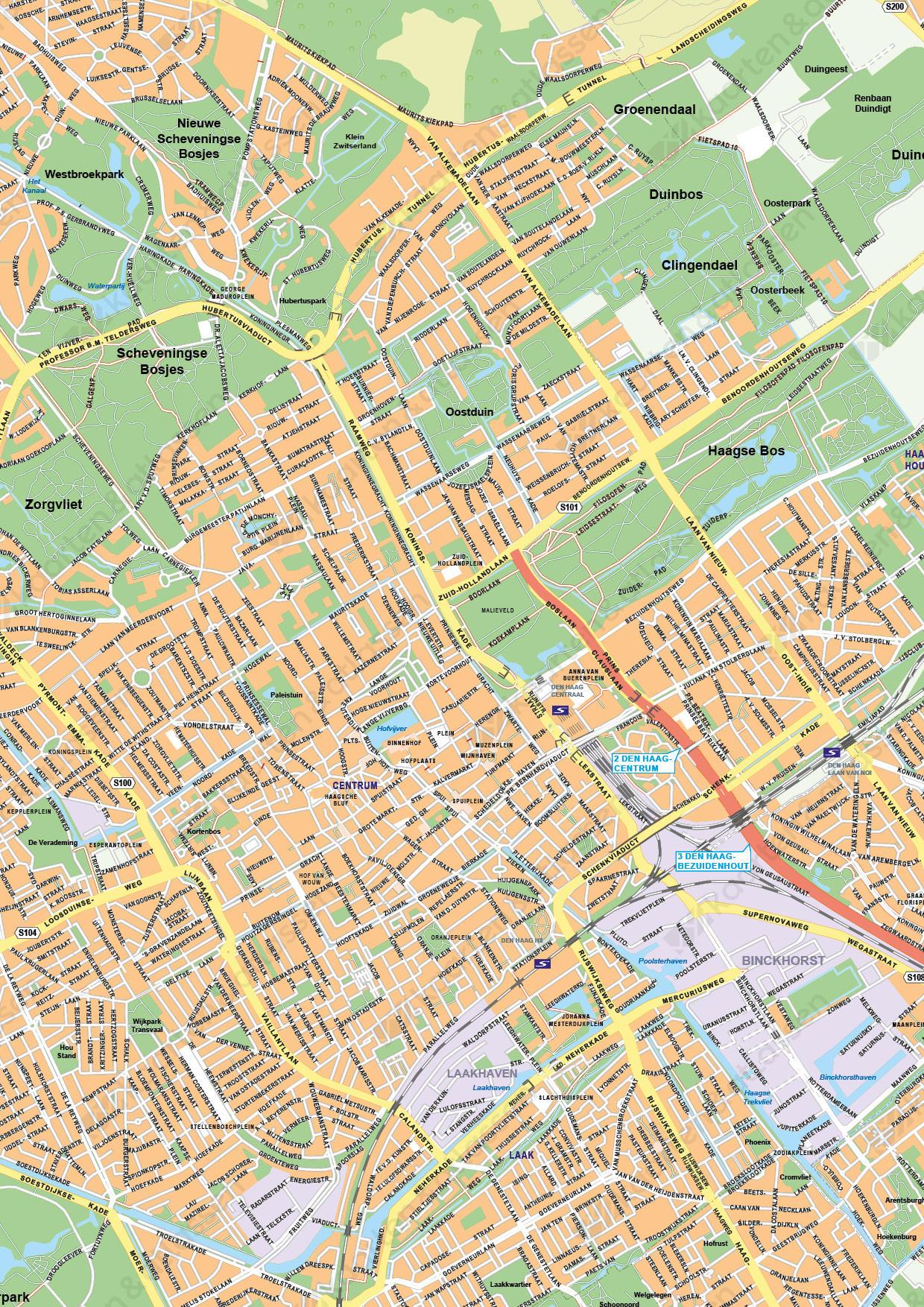 Kaart Den Haag