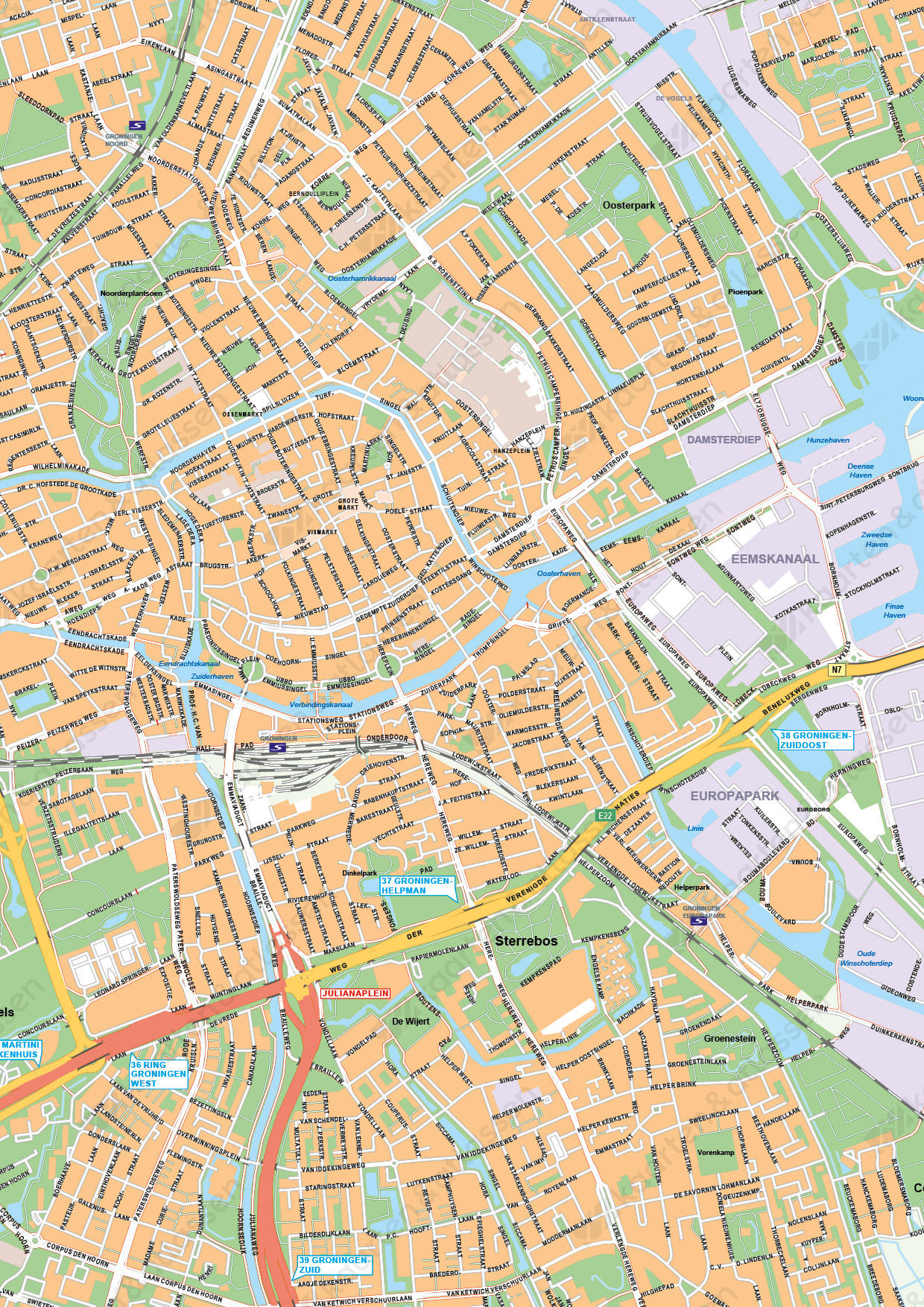 Kaart Groningen