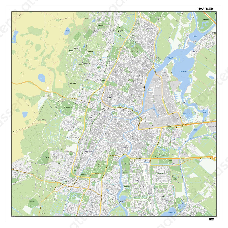 Kaart Haarlem 398dg Kaarten En Atlassen Nl