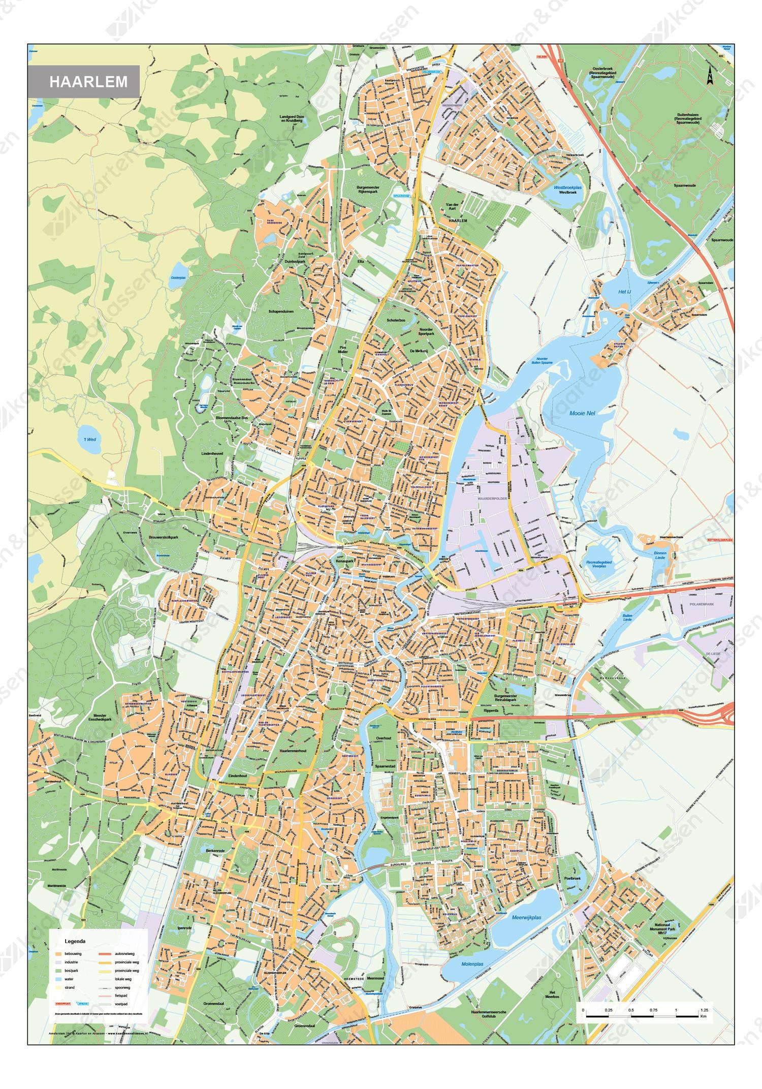 Digitale Kaart Haarlem