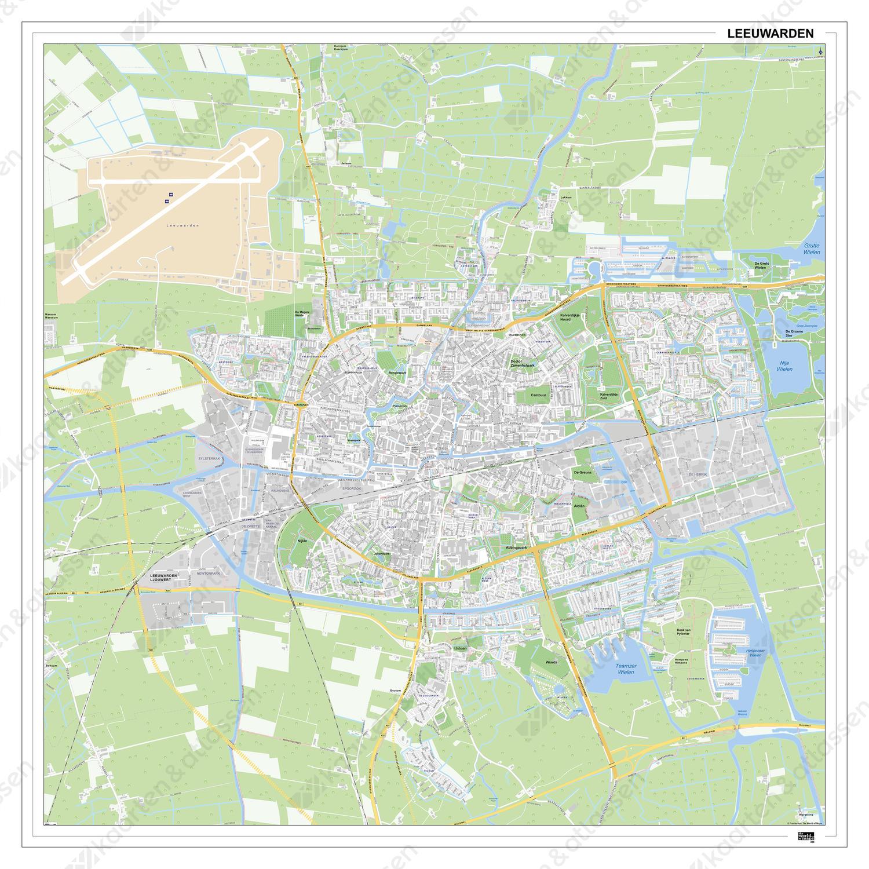 Kaart Leeuwarden 400dg Kaarten En Atlassen Nl